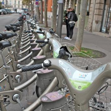 Parisian piblic bikes